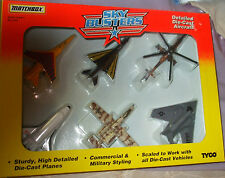 1995 Matchbox Skybusters Tyco 6 Pk Including rare Mil MI-24 Hind-d Helicopter MI