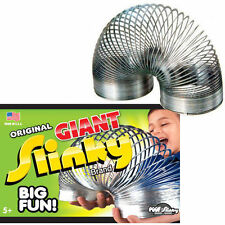NEW IN BOX* THE ORIGINAL POOF GIANT METAL SLINKY - WALKING SPRING TOY 70% Bigger