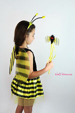BUMBLE BEE DRESS UP SET - BEE WINGS WAND TUTU FANCY DRESS - BOOK WEEK COSTUME