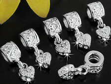 6 Pcs Spacer Beads Fit European Charm Silver Plated Bracelet Findings 6mm CHIC