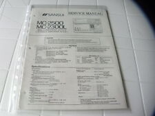 Sansui Factory Original Service Manual MC-2500 MC-2300L Mini Component System