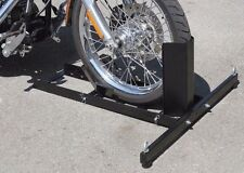 NEW MOTORCYCLE STAND WHEEL CHOCK Fits most front and rear tires WHEEL STAND