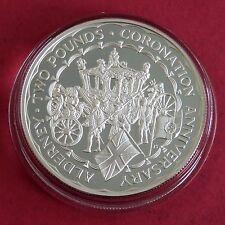 ALDERNEY 1993 40TH anniversario dell'incoronazione argento corona a Prova Di £ 2