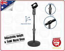 Desk Mic Stand with Locking Clip, Solid Metal base Flexible Goose Neck MCS410