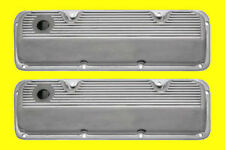 Ford 351c Cleveland Cast Finned Aluminum Valve Covers Polished Aluminum Made Usa