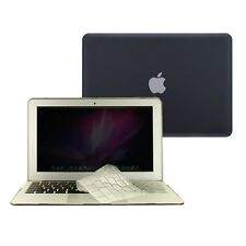 "3 in 1 Rubberized BLACK Case for Macbook AIR 11"" A1370 + Key Cover + LCD Screen"