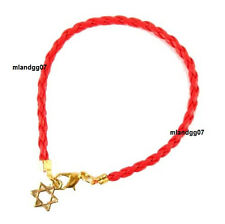 Kabbalah Star of David Red & Black String Bracelet Against Evil Eye Jewish Gift