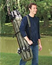 Portable Fishing Rod Case Organizer Pole Reel Gear Carrier Holder Storage Bag