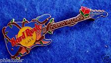 PUERTO VALLARTA MEXICO BLUE FENDER ROSE BUSH WRAPPED GUITAR Hard Rock Cafe PIN