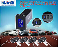 US SHIP Wireless TPMS Tire Pressure Monitor+4 Sensors LCD Display For Toyota