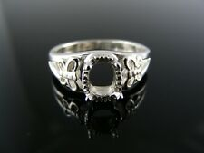 5688 RING SETTING STERLING SILVER, SIZE 5.75, 7X5MM OVAL STONE
