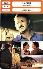 Fiche Cinéma. Movie Card. La fugue/Night moves (USA) 1975 Arthur Penn