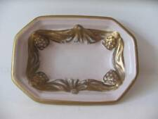 Vintage Carlin Comforts NY Vanity Pin Bowl Dish Guilded Gold on Fleshtone Signed