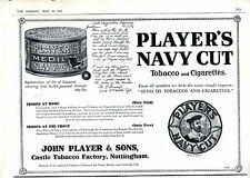 WWI ADVERTISEMENT - HOW PLAYER'S NAVY CUT SAVED A SOLDIER'S LIFE - THE GRAPHIC