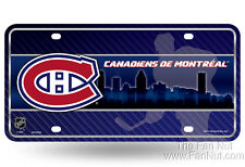 Montreal Canadiens Habs 8201 City Design Metal Tag License Plate NHL Hockey