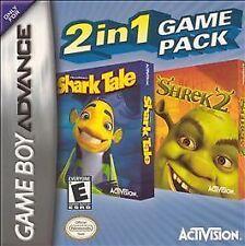2 in 1 Game Pack: Shark Tale/Shrek 2 - Game Boy Advance GBA Game