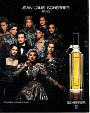 PUBLICITE ADVERTISING 0217  1986  parfum haute Couture Jean-Louis Scherrer