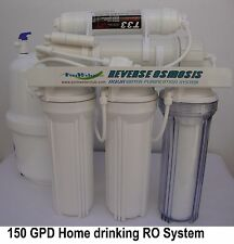 150 GPD 5 stage Reverse Osmosis RO Tank Water Filters RQ-5T-150
