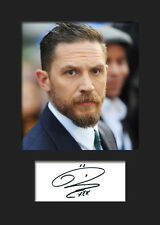 TOM HARDY #1 A5 Signed Mounted Photo Print (Reprint) - FREE DELIVERY