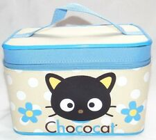RARE! Hello Kitty Sanrio CHOCOCAT Cosmetic Train Case Luggage Bag!