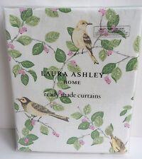 "Laura Ashley Curtains Aviary Garden Apple 88"" W x 90"" Long floral 223 cm x 229"
