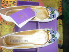 Versace Cruise for H&M Ballerinas aus Lackleder.Gr. 41, US 10, UK 8 Neu+ Etikett