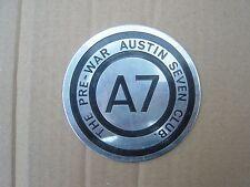 The Pre-War Austin Seven Club A7 Car Badge