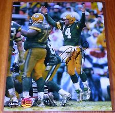 GREEN BAY PACKERS BRETT FAVRE 4 AUTOGRAPHED TOUCHDOWN 8x10 OFFICIAL PHOTO BF COA