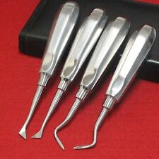 4Pcs Dental Root Elevators Surgical Left/Right Type Root removal Instruments pit