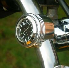 "New British Made ""Grooved"" Bar Clock, Harley, Bike, Motorcycle Etc."