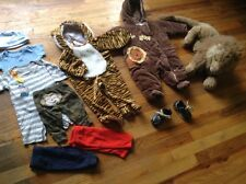 Baby Boys Clothes Lot Newborn 0-3 Months - Zoo Theme / Lion Tiger -