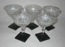 Westmoreland English Hobnail w Black Five Champagne Tall Sherbets