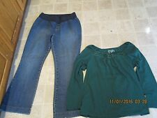 TM Sport maternity size M Medium flare jeans & Motherhood Large LOT J156