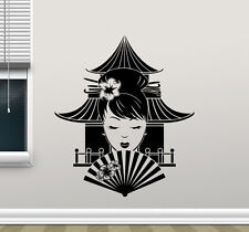 Geisha Japanese Girl Wall Decal Chinese Temple Vinyl Sticker Decor Mural 299xxx