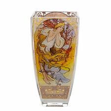 """ALPHONSE MUCHA  """"Die vier Jahreszeiten - The Four Seasons 1897"""" Glas Vase NEU !!"""