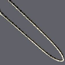 Bar & Bead Chain -- Sterling Silver -- 1.5mm* -- 24inch* -- [aA]