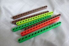 Lego Technic Liftarm 1 x 15 Thick Ref 32278 in various colours x 7pcs.