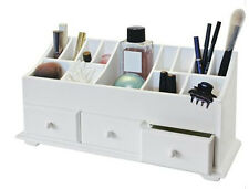 3 DRAWER MDF COSMETICS CADDY MAKEUP BEAUTY HAIR JEWELLERY STORAGE ORGANISER UNIT