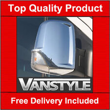 MERCEDES SPRINTER CHROME MIRROR COVERS STAINLESS STEEL 2006+  NOT CHEAP PLASTIC
