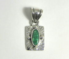 Handmade Sterling Silver .925 Turquoise Pendant Southwestern Jewelry Tq gemstone