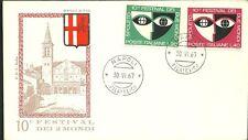 ITALIA BUSTA RODIA 1967 FESTIVAL DUE MONDI SPOLETO ANNULLO SPECIALE NAPOLI RARA