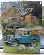 LAND ROVER VINTAGE FARM SCENE METAL WALL SIGN