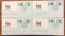 1984/85 AAT south magnetic pole cancel set of 4  first day covers