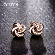Charming Fashion Women Lady 18K Gold Plated Love-knot Ear Stud Earrings Jewelry