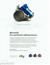 PUBLICITE ADVERTISING  056  2011  Dyson City  aspirateur DC26