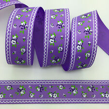 NEW~ 5 Yards 1Inch 25mm Wide Printed Grosgrain Ribbon Hair Bow DIY Sewing #B121