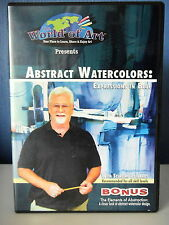 ABSTRACT WATERCOLORS EXPRESSIONS IN BLUE PAR S. EDWARDS TECHNIQUE ABSTRAITE DVD