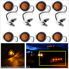 8 X Mini Hawkeye LED Amber Car Pickup Side Marker Trailer Lights Clearance Lamps