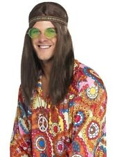 Mens Hippie Kit Headband Specs Necklace Woodstock Rave Hippy Festival  60's Fun
