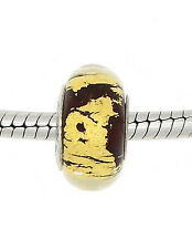 Authentic Chamilia Gold Tone Murano Glass European Bead